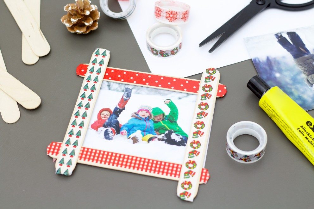 Individuelle Bilderrahmen Als Weihnachtsgeschenk Mit Kindern Basteln