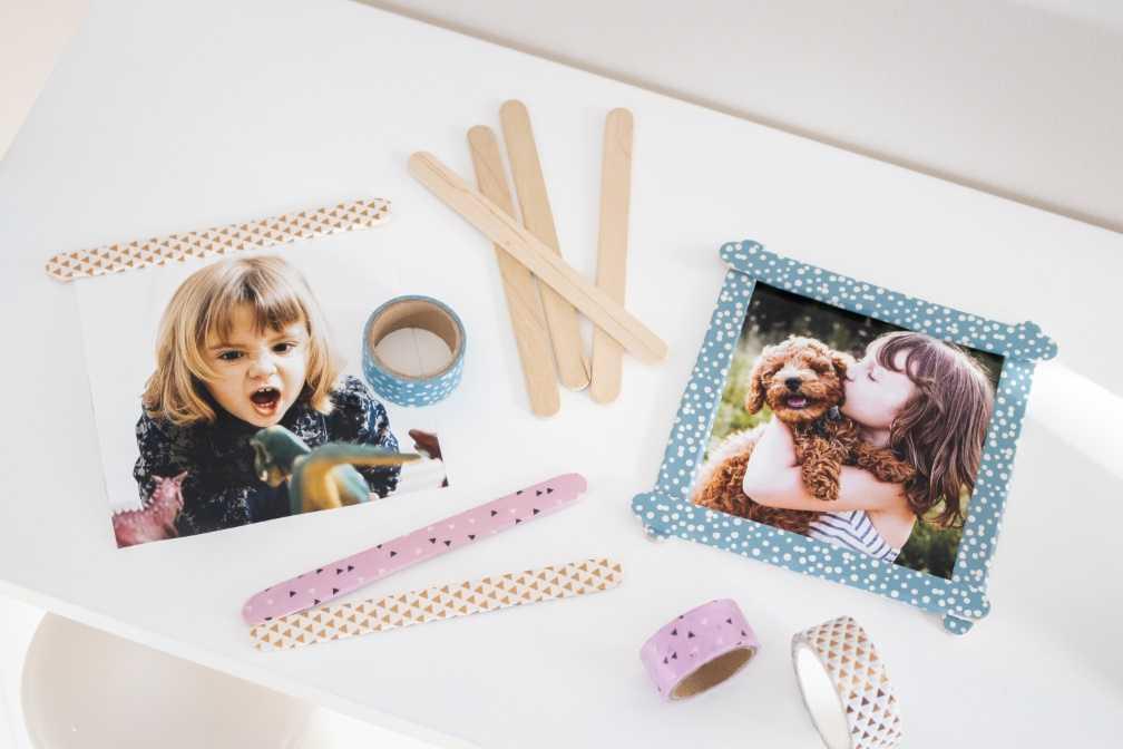 Individuelle Bilderrahmen Als Weihnachtsgeschenk Mit Kindern