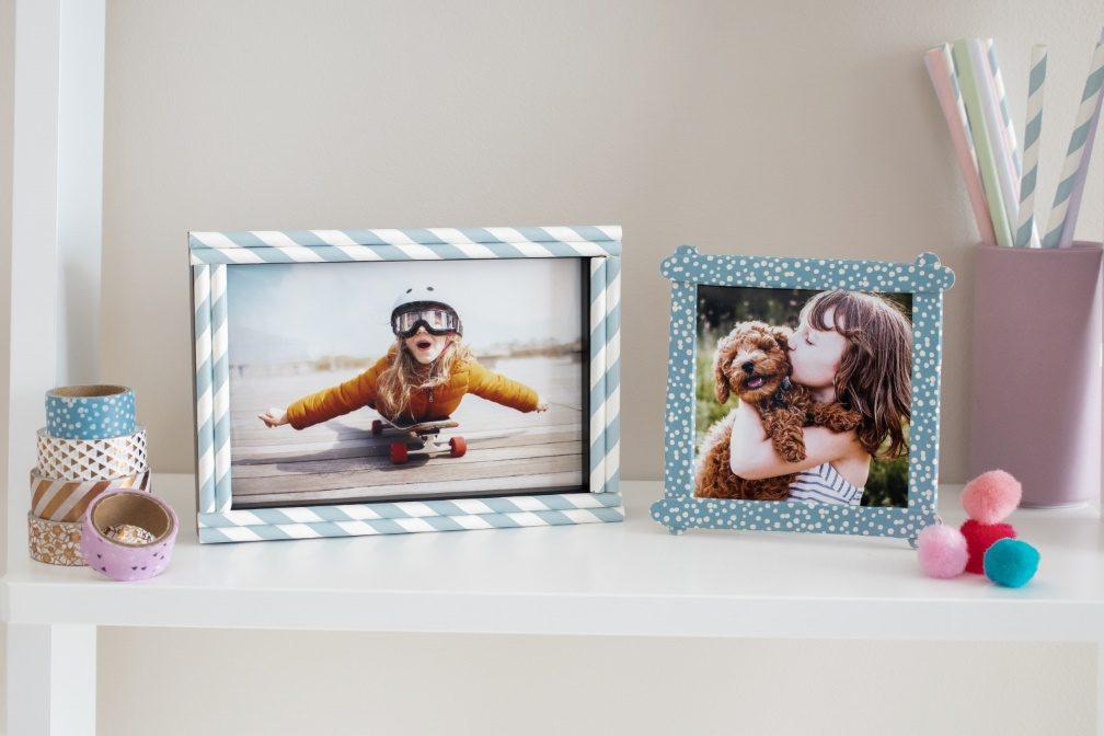 Individuelle Bilderrahmen als Weihnachtsgeschenk mit Kindern basteln ...
