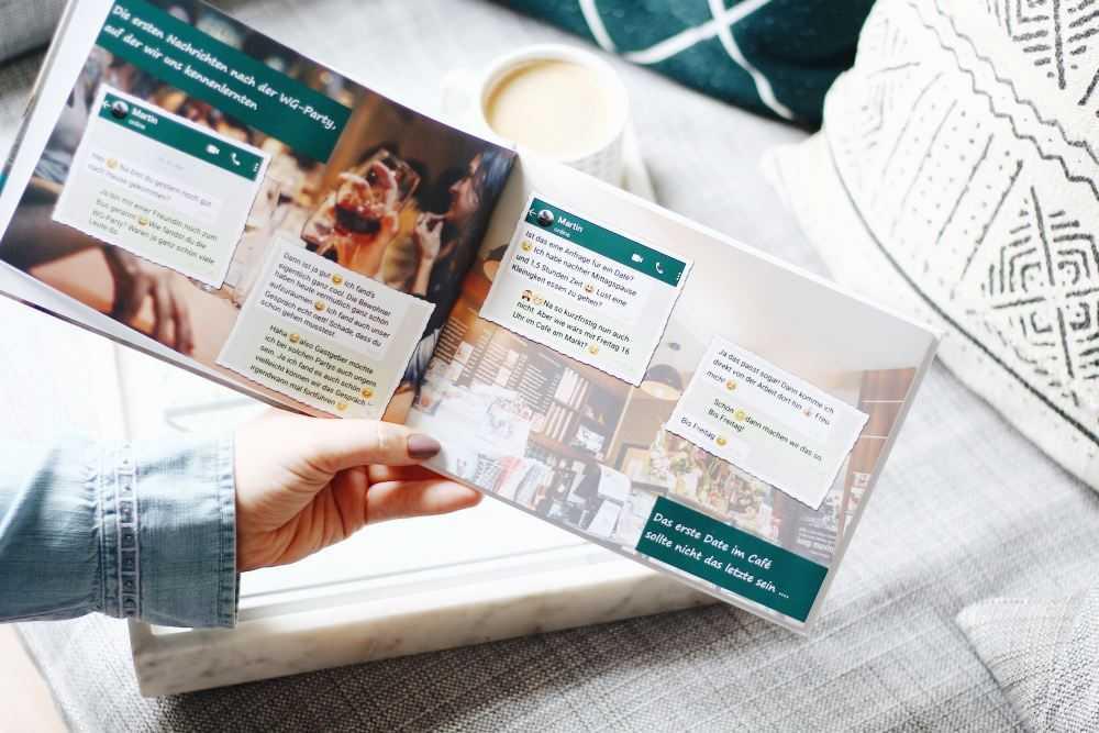 Chatverlauf Als Fotobuch Zum Valentinstag Verschenken Ifolor