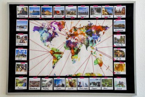 Individuelle weltkarte mit ferienfotos gestalten ifolor for Weltkarte mit fotos