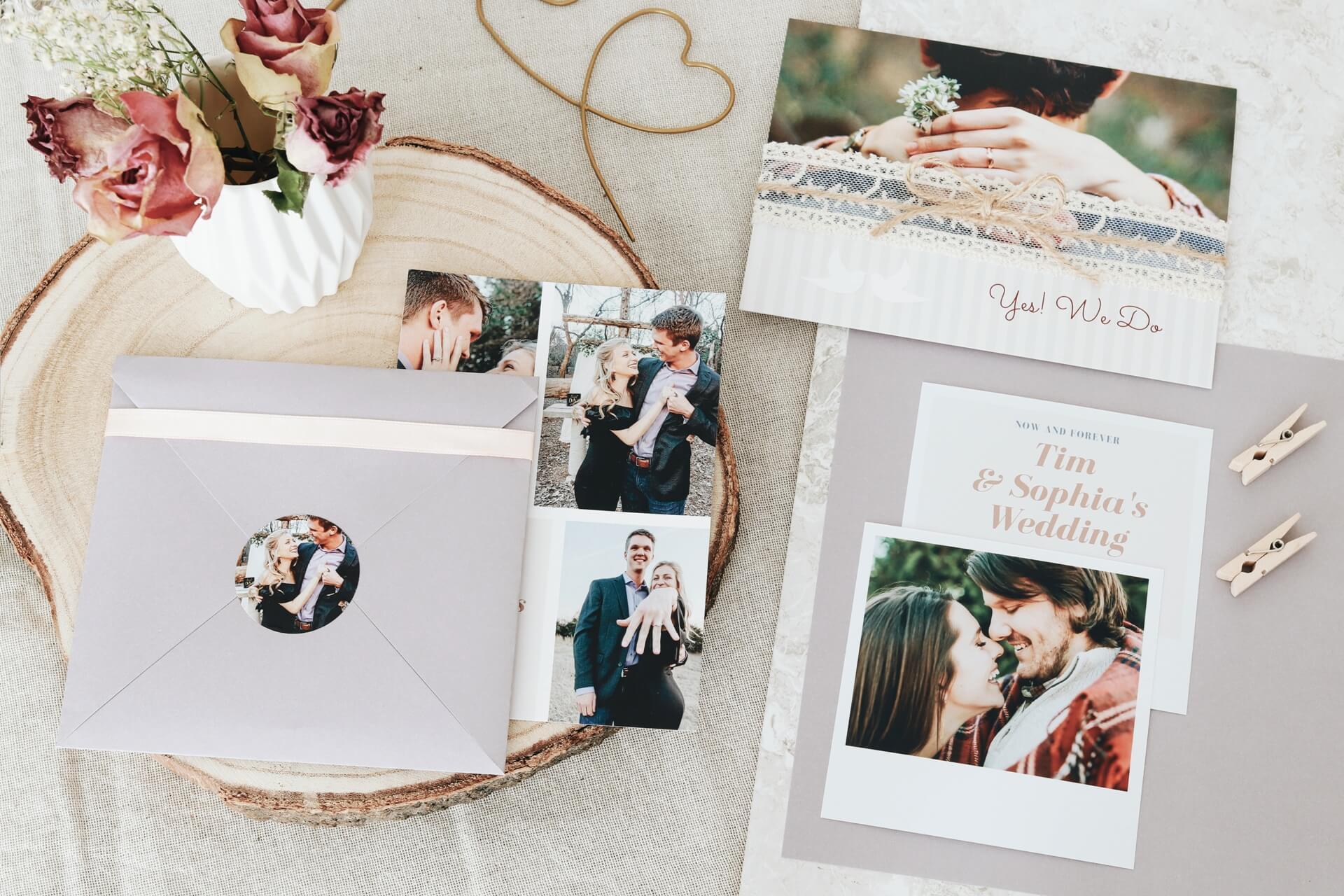 Ausgefallene Hochzeitseinladungen selbst gestalten | ifolor