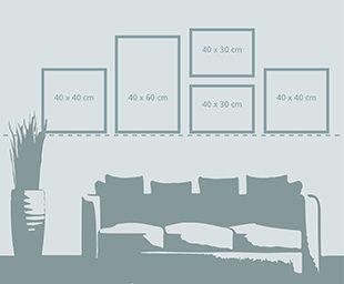 bilder richtig anordnen tipps f r sch n wanddekoration ifolor ifolor. Black Bedroom Furniture Sets. Home Design Ideas