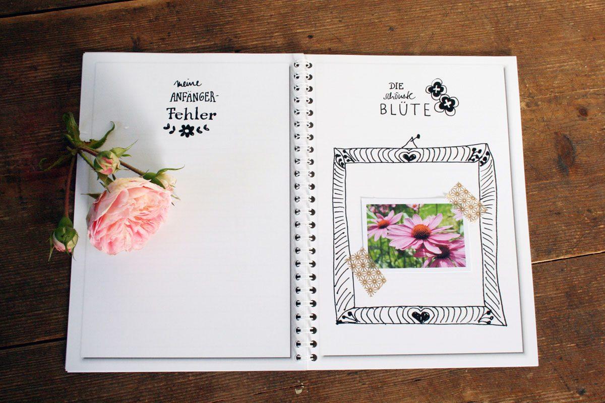 so gestalten sie ein gartentagebuch aus einem fotobuch spiral ifolor. Black Bedroom Furniture Sets. Home Design Ideas