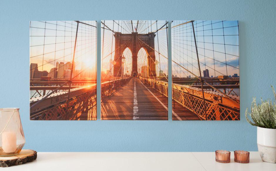 fotoleinwand mehrteiler trio 40x60 cm hochformat ifolor. Black Bedroom Furniture Sets. Home Design Ideas